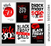 set of mobile sale banners.... | Shutterstock .eps vector #503521084