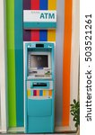 colorful atm machine  | Shutterstock . vector #503521261