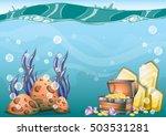 cartoon vector underwater... | Shutterstock .eps vector #503531281