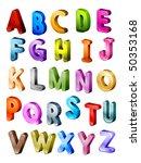isometric alphabet   vector   Shutterstock .eps vector #50353168