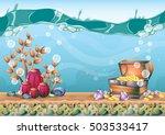 cartoon vector underwater... | Shutterstock .eps vector #503533417