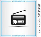 retro radio icon vector... | Shutterstock .eps vector #503533687