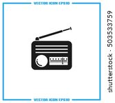 retro radio icon vector... | Shutterstock .eps vector #503533759