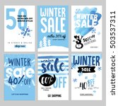 set of winter mobile sale... | Shutterstock .eps vector #503537311
