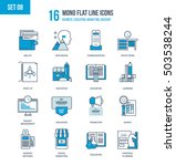 color flat line icons set of... | Shutterstock .eps vector #503538244
