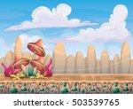 cartoon vector nature landscape ... | Shutterstock .eps vector #503539765