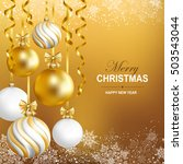 merry christmas and happy new... | Shutterstock .eps vector #503543044