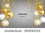 merry christmas and happy new... | Shutterstock .eps vector #503543131