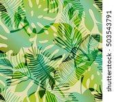 vector tropical gradient... | Shutterstock .eps vector #503543791