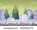 cartoon vector sky background...   Shutterstock .eps vector #503552074