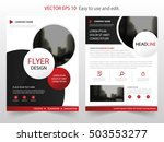 red circle annual report... | Shutterstock .eps vector #503553277