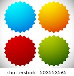badge shapes in 4 bright colors | Shutterstock . vector #503553565