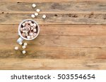 cup of hot cocoa or chocolate... | Shutterstock . vector #503554654