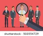 recruitment hand zoom... | Shutterstock .eps vector #503554729