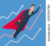 businessman in a suit superhero ...   Shutterstock .eps vector #503554789