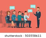 business professional meeting.... | Shutterstock .eps vector #503558611
