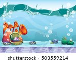 cartoon vector sky background... | Shutterstock .eps vector #503559214