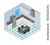 vector isometric house room ... | Shutterstock .eps vector #503563141