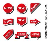 new labels  set of badges with... | Shutterstock .eps vector #503565025