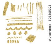set of glitter brush strokes.... | Shutterstock .eps vector #503565325