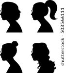woman profile silhouette  ...