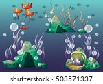 cartoon vector underwater...