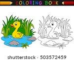 cartoon duck coloring book | Shutterstock . vector #503572459