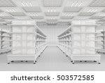 supermarket interior with empty ... | Shutterstock . vector #503572585