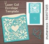 laser cut vector wedding... | Shutterstock .eps vector #503577655