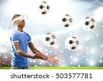 young man with virtual reality...   Shutterstock . vector #503577781
