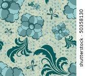 floral seamless pattern | Shutterstock .eps vector #50358130