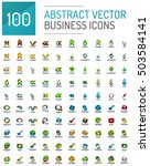 abstract logo vector mega... | Shutterstock .eps vector #503584141