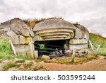 arromanches les bains beach... | Shutterstock . vector #503595244
