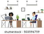 office people set. scenes of... | Shutterstock .eps vector #503596759