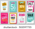 sale banner design templates... | Shutterstock .eps vector #503597755
