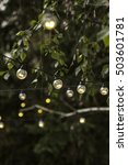 christmas garland lights at... | Shutterstock . vector #503601781