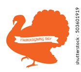 isolated silhouette of a turkey ...   Shutterstock .eps vector #503601919