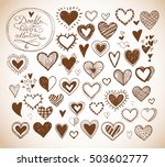 collection of doodle sketch... | Shutterstock .eps vector #503602777