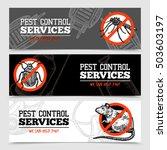 pest control service horizontal ... | Shutterstock .eps vector #503603197