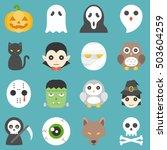 halloween cute cartoon character | Shutterstock .eps vector #503604259