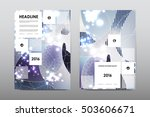 brochure layout template flyer... | Shutterstock .eps vector #503606671