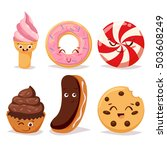 collection sweets emotion... | Shutterstock .eps vector #503608249