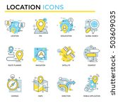 location icons  thin line  flat ... | Shutterstock .eps vector #503609035