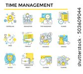time management concept icons ... | Shutterstock .eps vector #503609044