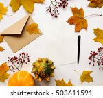 stylish composition of letter ... | Shutterstock . vector #503611591