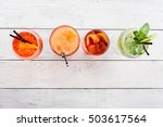 four different cocktails with...   Shutterstock . vector #503617564