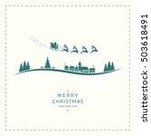 santa claus sleigh merry...   Shutterstock .eps vector #503618491