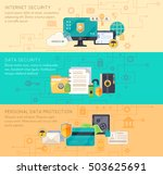 online business processing and... | Shutterstock .eps vector #503625691