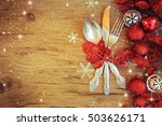family holiday  christmas table ... | Shutterstock . vector #503626171