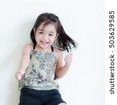 kids in action of her house | Shutterstock . vector #503629585